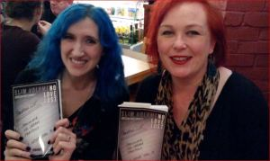 Slim Volume : No Love Lost editor Kate Garrett and myself, grinning happily at the launch last week.
